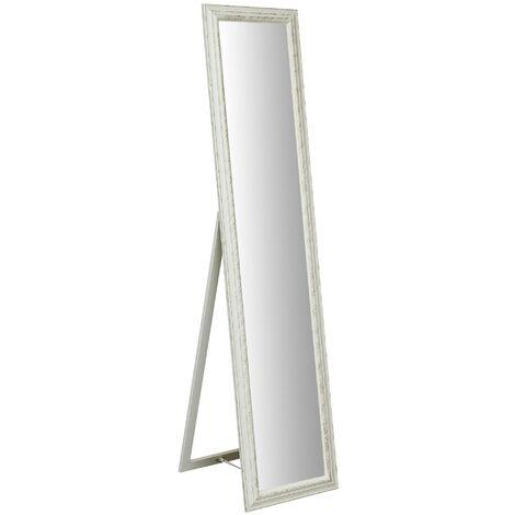 Miroir sur pied avec finition blanc antique L40xPR3XH170 cm