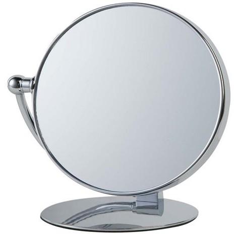 Miroir sur pied grossissant pivotant - chromé