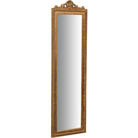 Miroir sur pied L40xPR3xH140 cm, finition dorée antique
