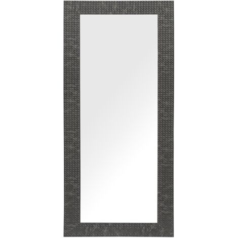 Miroir suspendu rectangulaire avec cadre noir au style moderne