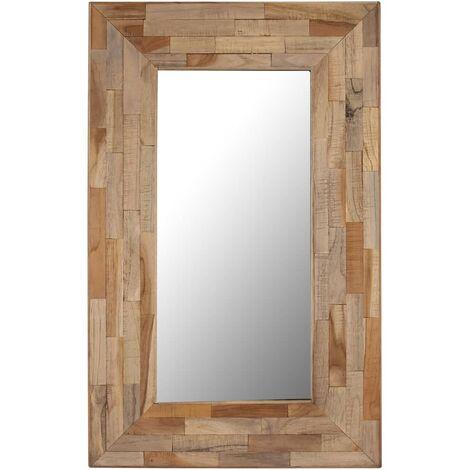 Miroir teck recyclé 50 x 80 cm