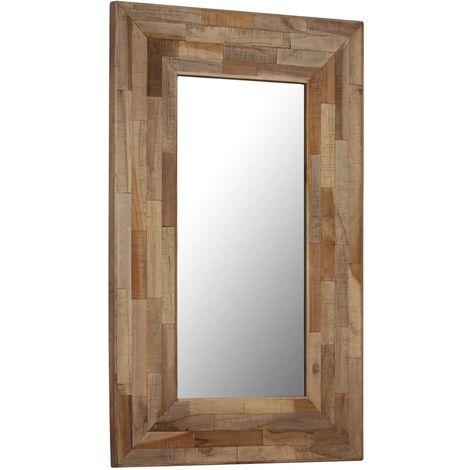 Miroir teck recycle 50 x 80 cm