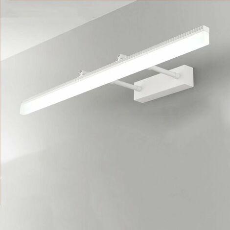 Miroir télescopique armoire miroir lumière avant LED salle de bain salle de bain lumière Simple moderne anti-buée blanc miroir de maquillage lumière