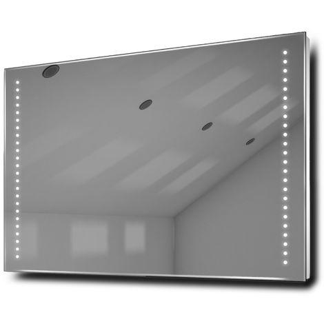 Miroir toilette rasage Bluetooth anti-buée capteur rasoir lumineux