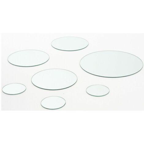Miroirs adhésifs - Lot de 7 miroirs ronds prêts à poser