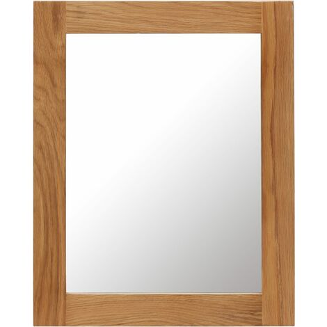 Mirror 40x50 cm Solid Oak Wood