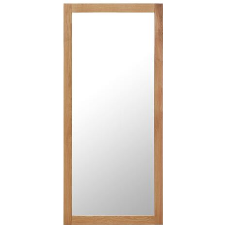 Mirror 50x140 cm Solid Oak Wood