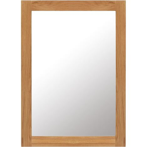 Mirror 50x70 cm Solid Oak Wood