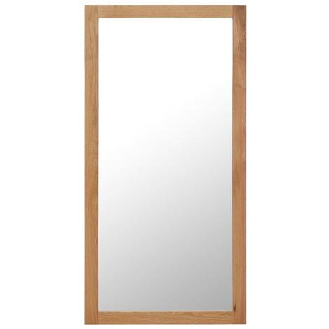 Mirror 60x120 cm Solid Oak Wood