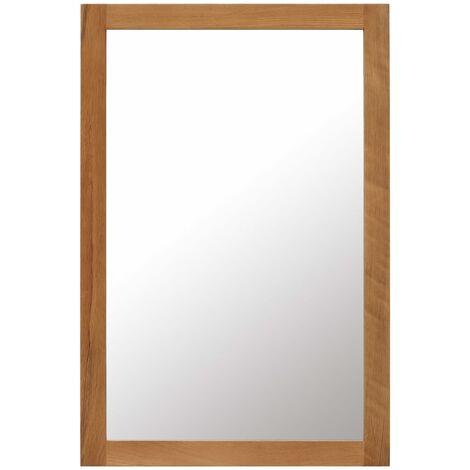 Mirror 60x90 cm Solid Oak Wood
