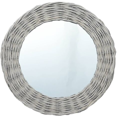 "main image of ""Mirror 80 cm Wicker - Brown"""