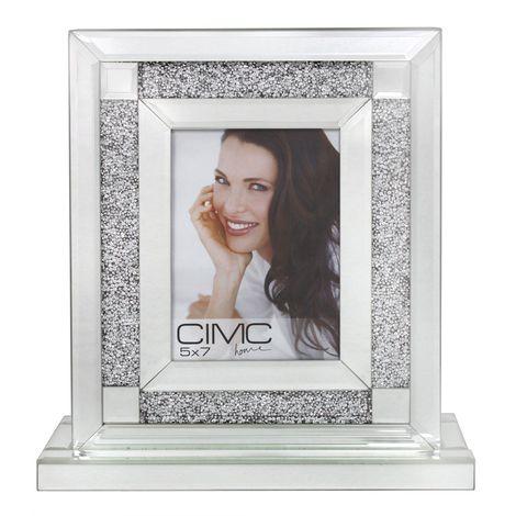 "Mirror Box Picture Photo Frame 5x7"" Home Decor Wedding Picture Gift - BLCC1185"