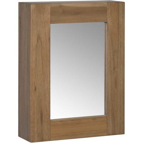 Mirror Cabinet 30x10x40 cm Solid Teak Wood