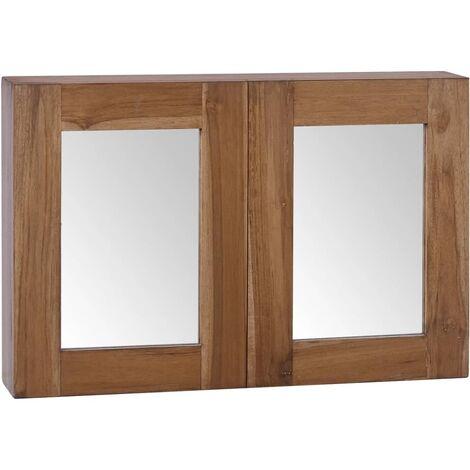 Mirror Cabinet 60x10x40 cm Solid Teak Wood