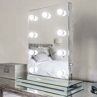 Mirror Finish Hollywood Makeup Mirror Warm White Dimmable LED k219WW