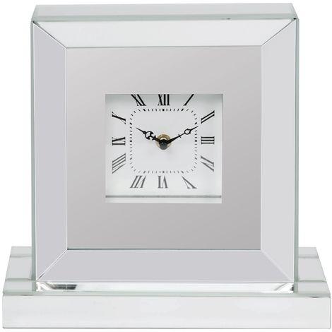 Mirror Glass Mantel Clock 27.5cm