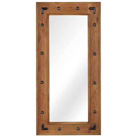 Mirror Solid Acacia Wood 50x110 cm