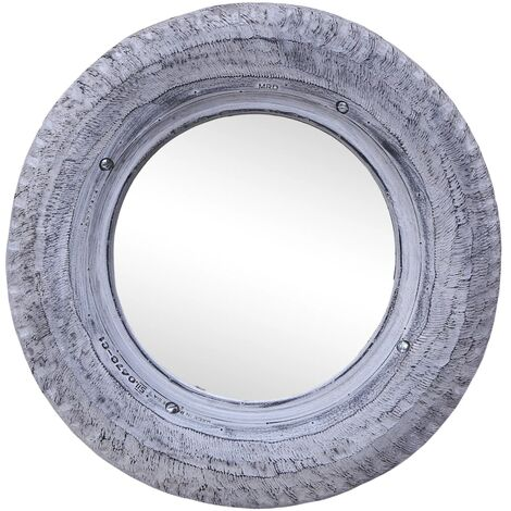 Mirror White 50 cm Reclaimed Rubber Tyre