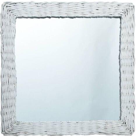 Mirror White 60x60 cm Wicker