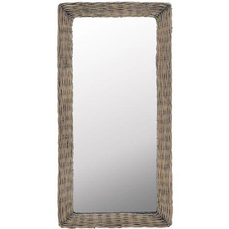 Mirror Wicker Brown 50x100 cm - Brown