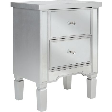 Mirrored Bedside Table TIGY