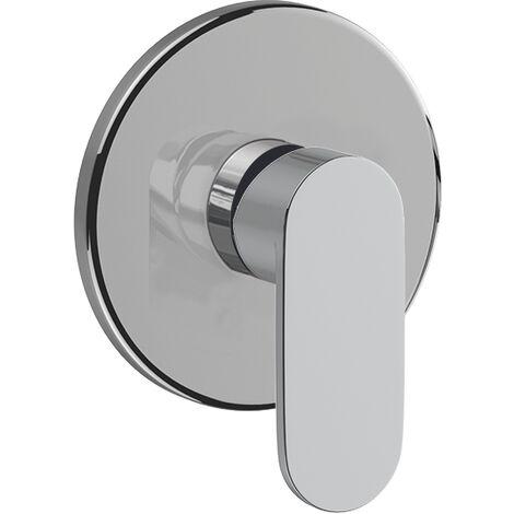 Miscelatore incasso doccia 1 via cromato con piastra tonda