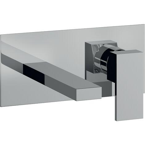 Miscelatore incasso lavabo da parete cromato bocca da 18 cm