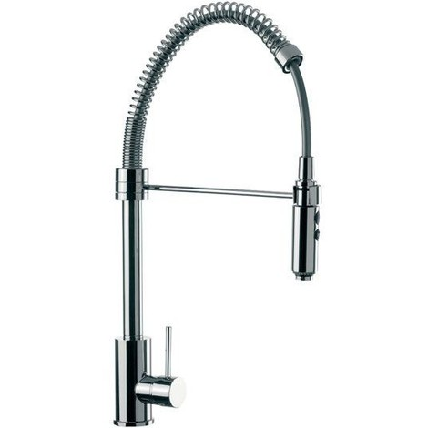 Miscelatore laterale per lavello cucina, alto, con bocca girevole, daniel  rubinetterie serie suvi