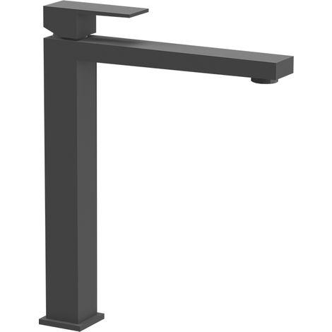 Miscelatore lavabo alto nero opaco senza scarico
