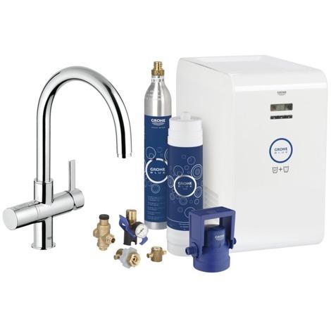 Miscelatore lavandino con sistema di filtraggio dell'acqua Blue® Refrigerante & scintillante Kit di avviamento ( 31323001)