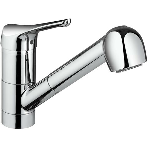Miscelatore lavello cucina doccia estraibile Piralla Ariel 0RE00568B16   Cromo