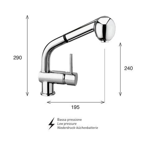 Miscelatore monocomando cucina doccia estraibile saturno sa70 dea bp - bassa pressione