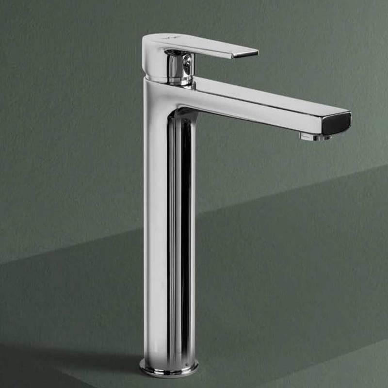 Weiss Stern Miscelatore monocomando per lavabo alto Cleopatra con scarico 1''/4