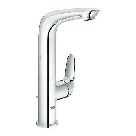 Miscelatore monocomando per lavabo Grohe Eurostyle, dimensione L con scarico, maniglia a leva chiusa, colorazione: cromo - 23718003