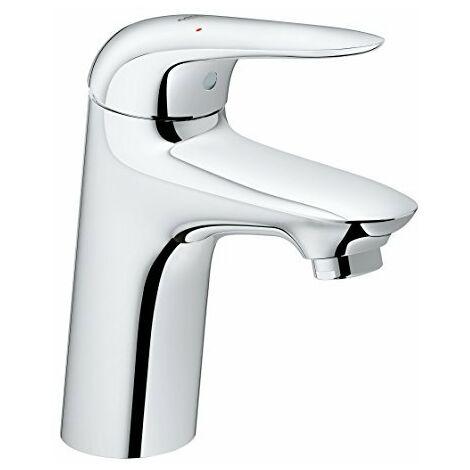 Miscelatore monocomando per lavabo Grohe Eurostyle, dimensione S senza scarico a scomparsa, maniglia a leva chiusa - 23715003