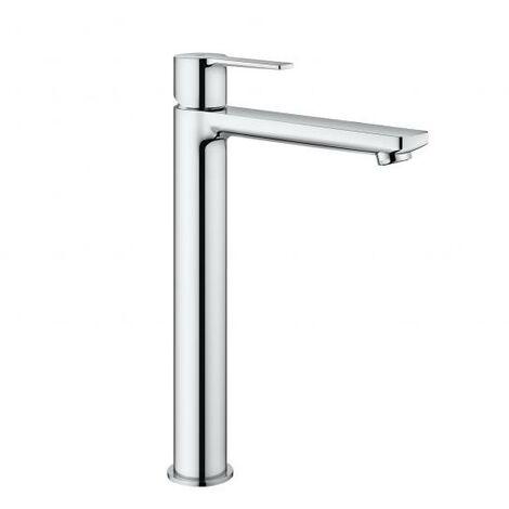 Miscelatore monocomando per lavabo Grohe Linear, misura XL, per lavabi indipendenti, senza scarico a scomparsa, colorazione: super acciaio - 23405DC1