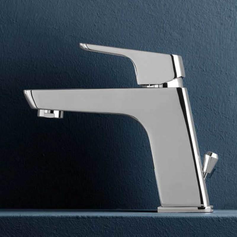 Weiss Stern Miscelatore monocomando per lavabo serie Blow con scarico 1''1/4
