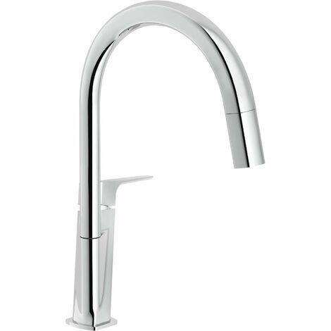 Miscelatore per cucina doccetta estraibile Nobili acquaviva VV103127CR |  Cromo