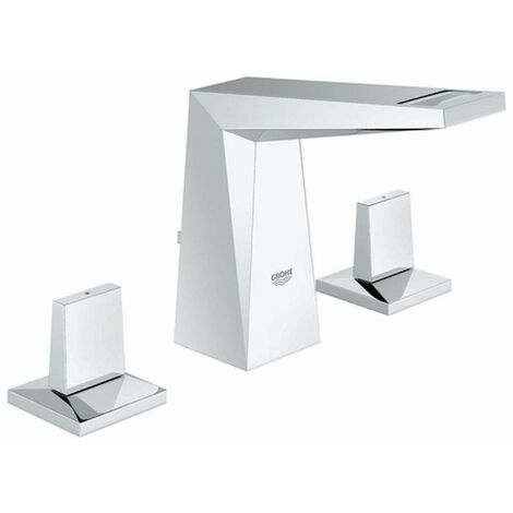 Miscelatore per lavabo Grohe Allure Brilliant 3 fori, bocca di erogazione piatta - 20342000