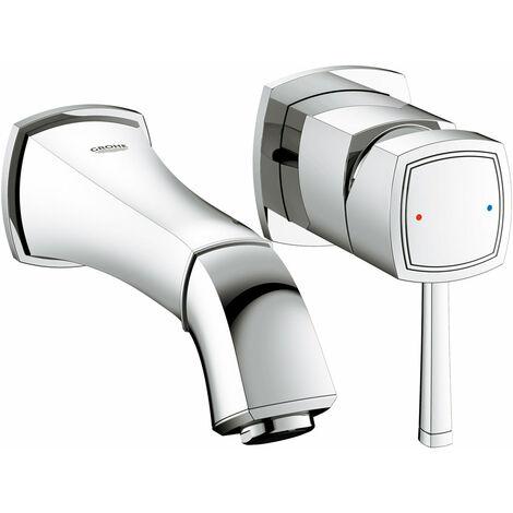 Miscelatore per lavabo Grohe Grandera 2 fori a parete, sporgenza 234mm, colorazione: cromo - 19930000