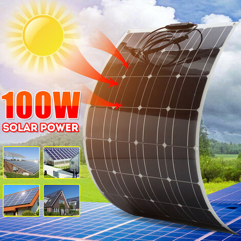 Mise à niveau de 100W panneaux solaires pliables en plein air Sunpower Portable + câble 1.5M pour voyager en camping randonnée