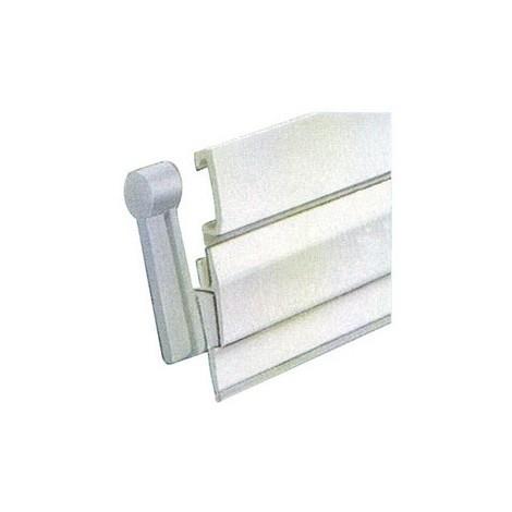 MISTRAL - Bas de porte à visser pivotant - blanc - 100 cm