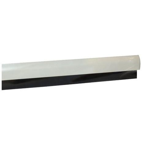 MISTRAL - Bas de porte adhésif aluminium + brosse flexible - L : 100 cm - blanc