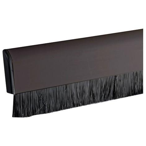 MISTRAL - Bas de porte adhésif PVC + brosse flexible - L : 98 cm - marron