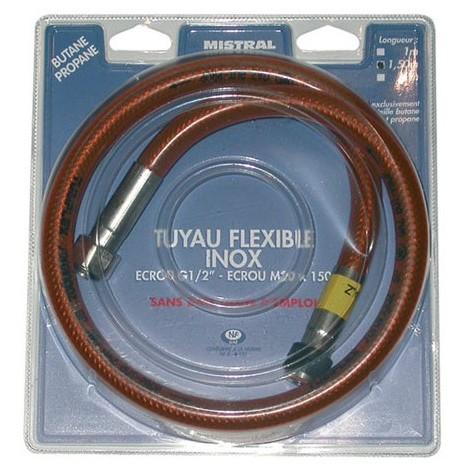 MISTRAL GAZ Tuyau gaz butane et propane flexible inox 1.5 m