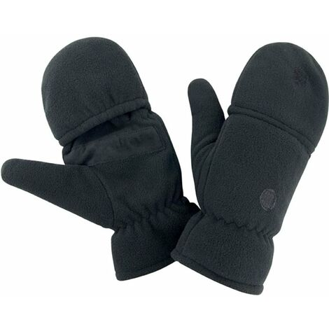Mitaines-moufles antidérapantes Result POLAIRE Noir