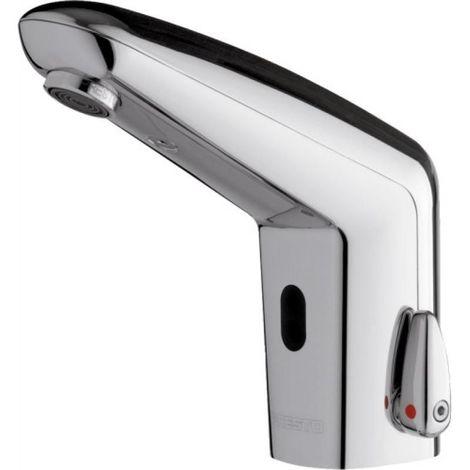 Mitgeur temporisé électronique Volta à pile 6V CRP2 + robinets darrêt droits - sans manette de réglage de température