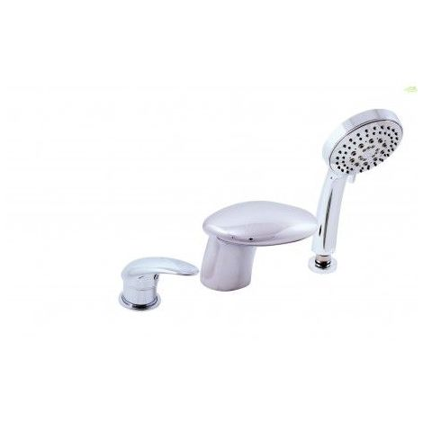 Mitigeur baignoire à cascade en chrome, or ou laiton 3 trous
