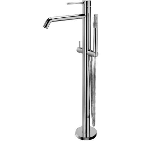 Mitigeur baignoire/douche avec raccord a sol Paffoni Light (code LIG032CR) - Chromé