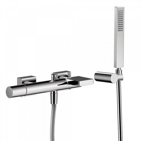 Mitigeur bain avec cascade. Douchette à main anticalcaire (202.639.01) avec support orientable et flexible. - TRES 21117001